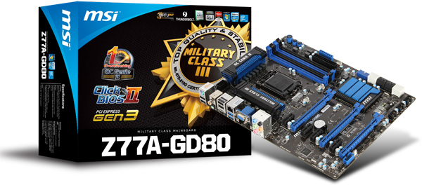 MSI Z77A GD80 1 0