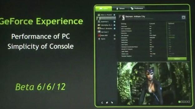"Nvidia desvela su software ""GeForce Experience"""