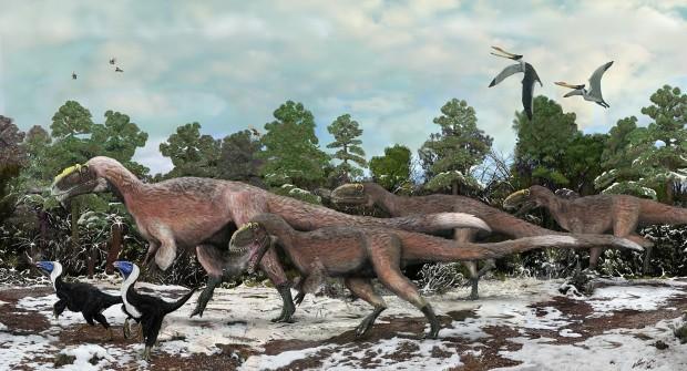 Yutyrannus huali 620x335 Hallado un nuevo tiranosaurio con plumas en China