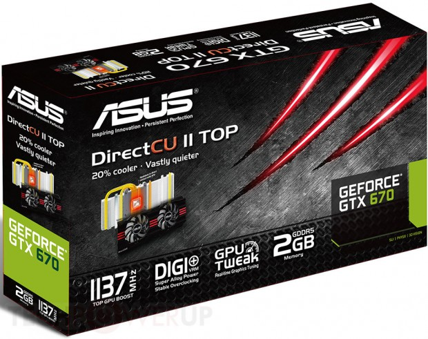 Asus GeForce GTX 670 DirectCU II TOP 620x491 0