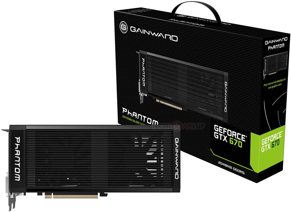 Gainward lanza la GeForce GTX 670 & GTX 670 Phantom