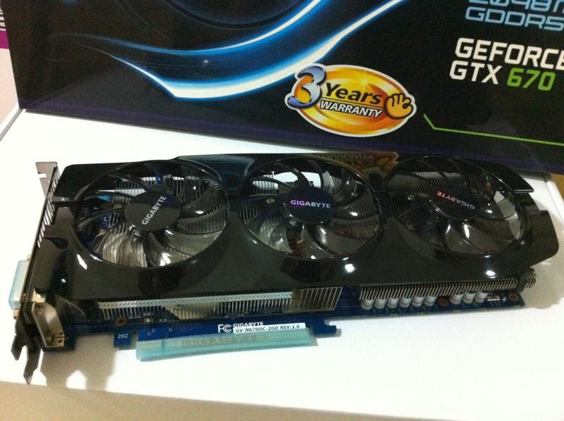 Gigabyte GeForce GTX 670 WindForce 3X filtrada