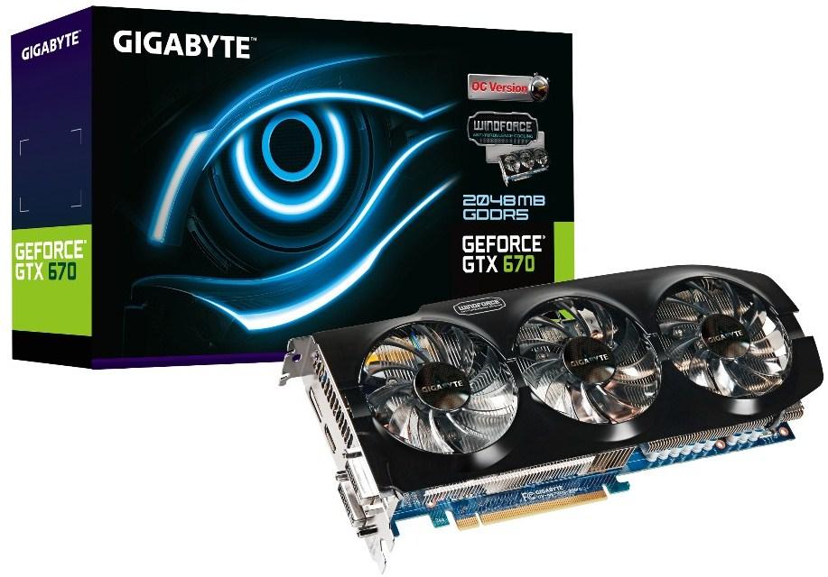 Gigabyte lanza la GeForce GTX 670 WindForce 3X