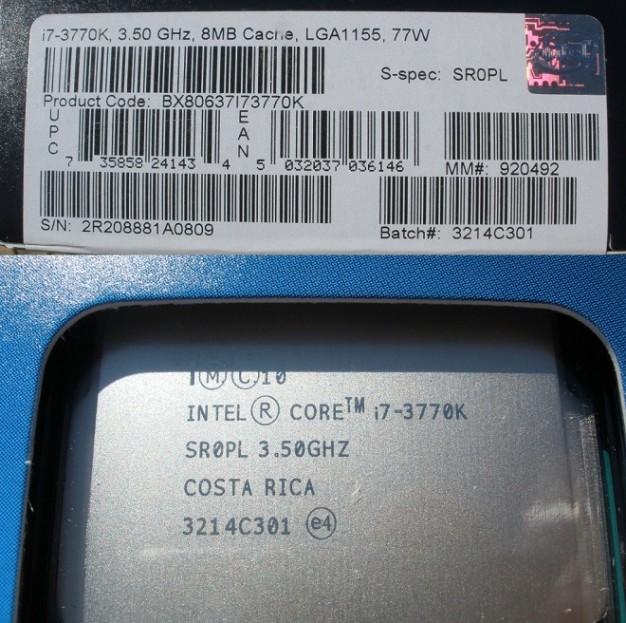 Intel Core i7-3770K 77W