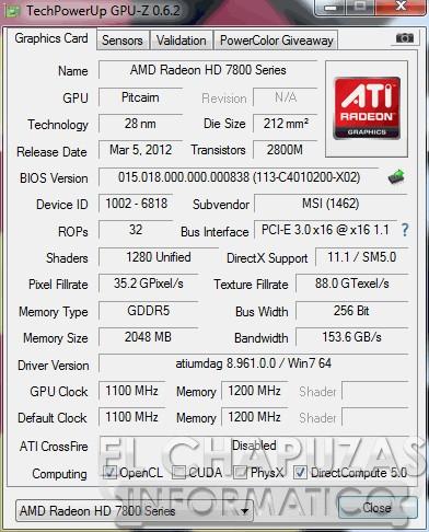 MSI R7870 HAWK GPU Z 22