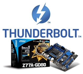MSI lanza la placa base Z77A-GD80 con Thunderbolt