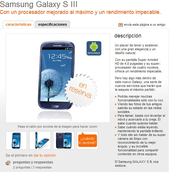 Samsung Galaxy S III Orange