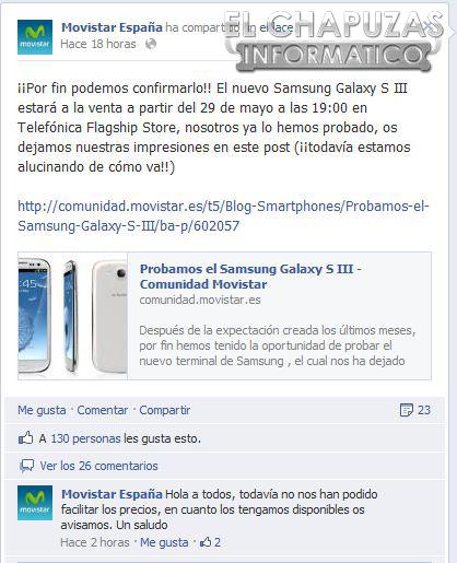 Samsung Galaxy S III en Movistar Movistar se hace con el Samsung Galaxy S III