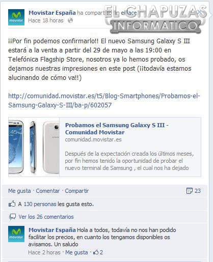 Samsung Galaxy S III en Movistar