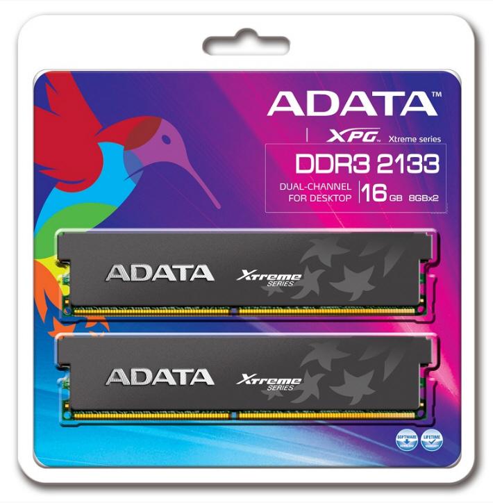ADATA amplia la serie XPG Xtreme con nuevos kits DDR3-2133