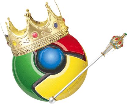 chrome rey Google Chrome es el rey de los navegadores
