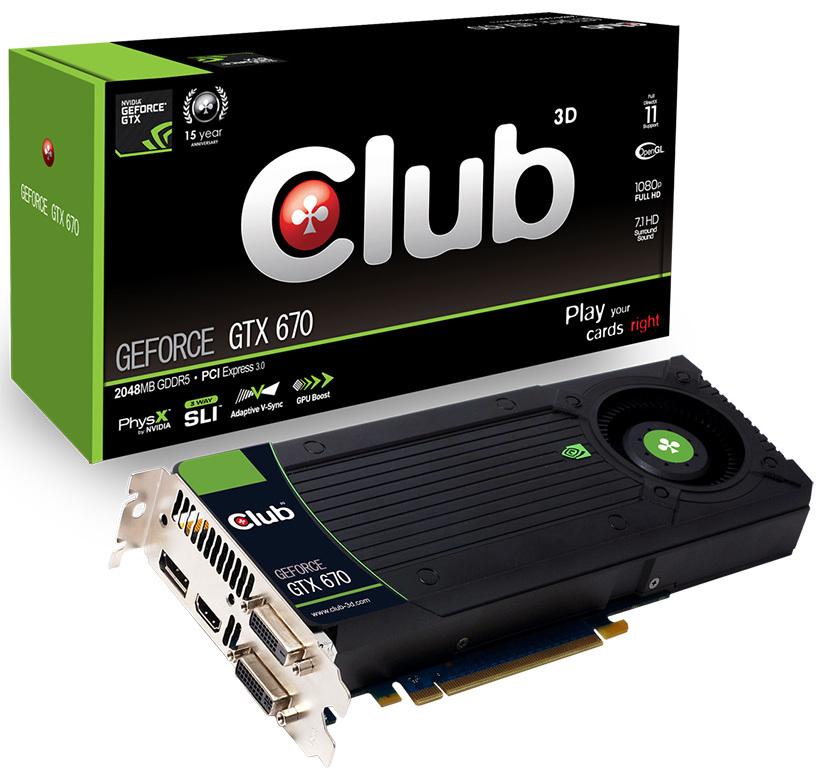 Club 3D anuncia su GeForce GTX 670