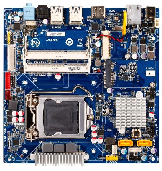 gigabyte MSQ77DI Gigabyte desvela una placa Q77 mini ITX