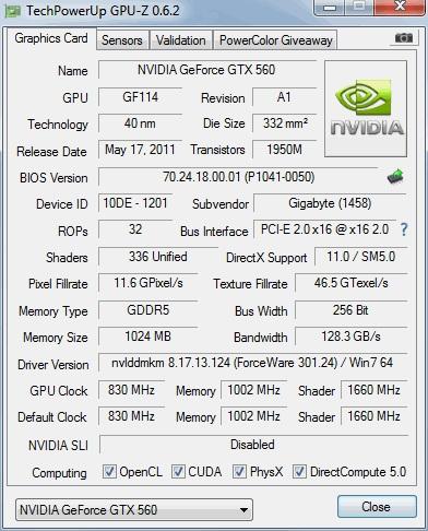 Lanzada la última versión GPU-Z 0.6.2