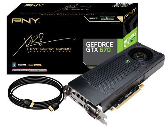 pny nvidia geforce gtx 670