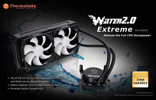 """tt water 2.0 extreme 02 Thermaltake anuncia la serie """"Water 2.0"""" de refrigeración líquida"""