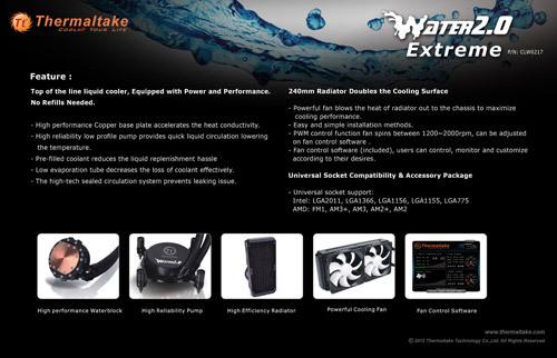 """tt water 2.0 extreme 03 Thermaltake anuncia la serie """"Water 2.0"""" de refrigeración líquida"""