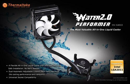 """tt water 2.0 performer 02 Thermaltake anuncia la serie """"Water 2.0"""" de refrigeración líquida"""