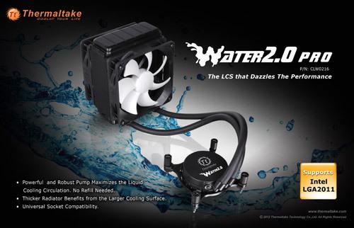 """tt water 2.0 pro 02 Thermaltake anuncia la serie """"Water 2.0"""" de refrigeración líquida"""
