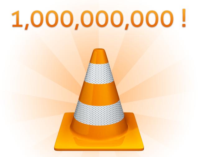 VLC supera los 1.000 millones de descargas