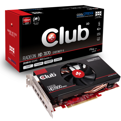 Club 3D Radeon HD 7870 Eyefinity 6 CGAX 7876M6 1 Club 3D anuncia Radeon HD 7870 Eyefinity 6