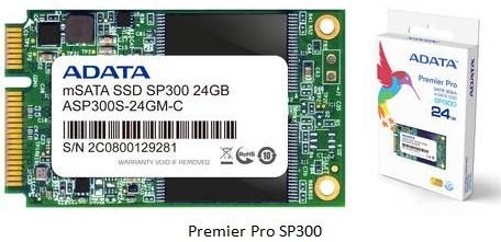 adata Premier Pro SP300 ADATA lanza dos nuevas unidades SSD mSATA