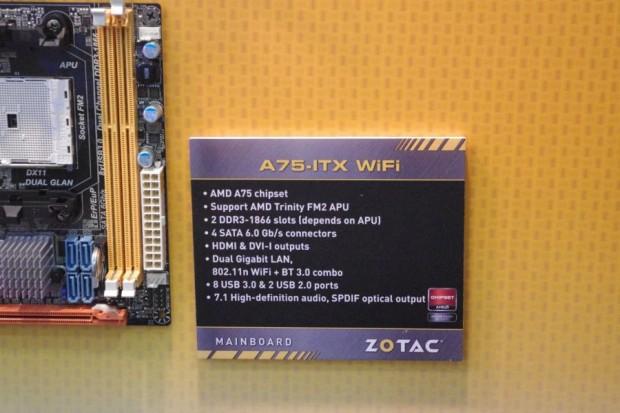 zotac a75 itx wifi 2 620x413 Computex 2012: Zotac también presenta su placa FM2 mini ITX