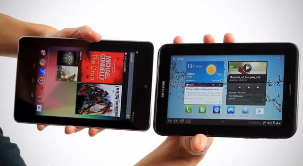 Nexus 7 vs Galaxy Tab 2 7.0: Tablets de bajo coste enfrentadas