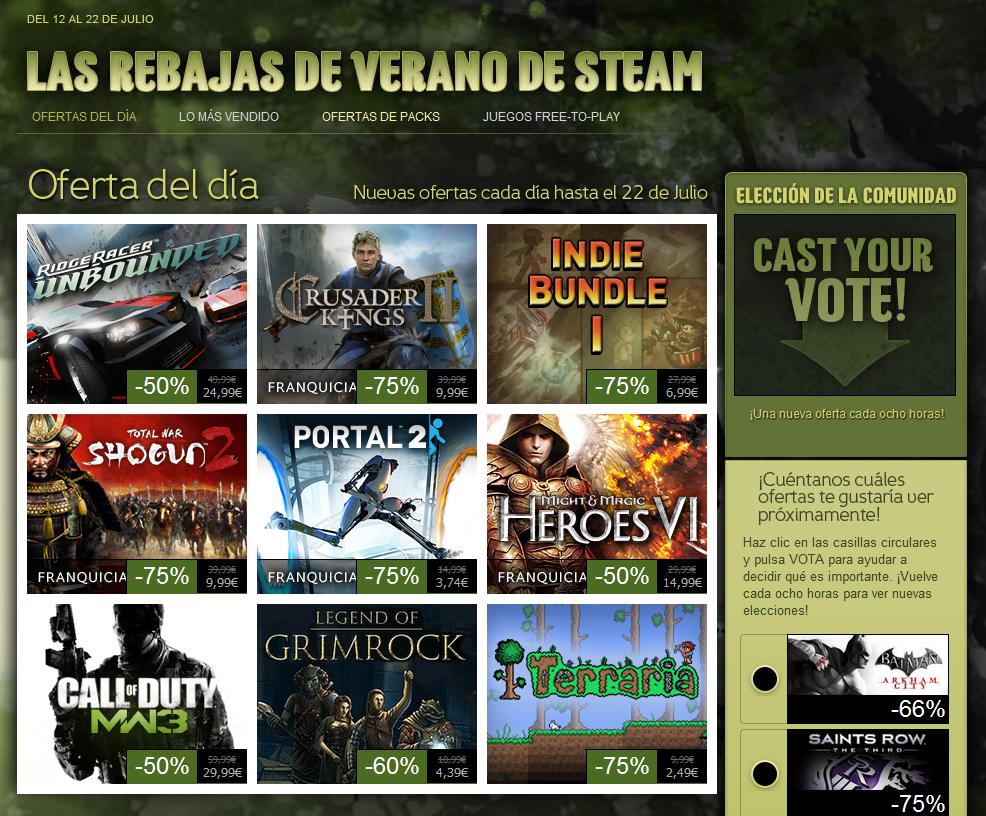 ¡Comienzan las rebajas de verano de Steam!