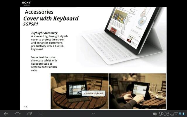 Filtrados los primeros detalles e imágenes de la Sony Xperia Tablet