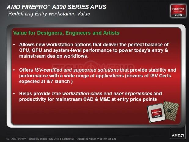 AMD FirePro A320 2 619x464 AMD lanza su primera APU profesional AMD FirePro