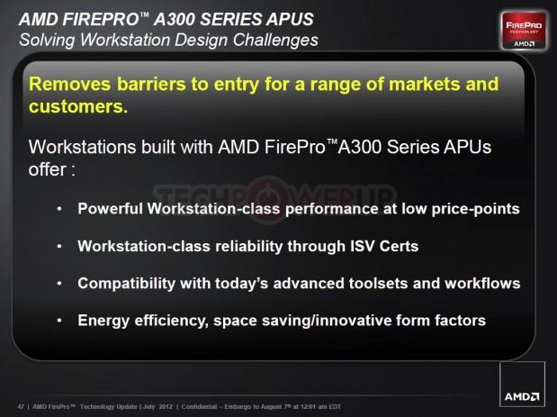 AMD FirePro A320 4 619x463 AMD lanza su primera APU profesional AMD FirePro