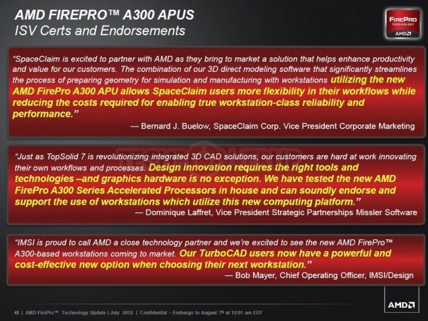 AMD FirePro A320 5 619x464 AMD lanza su primera APU profesional AMD FirePro