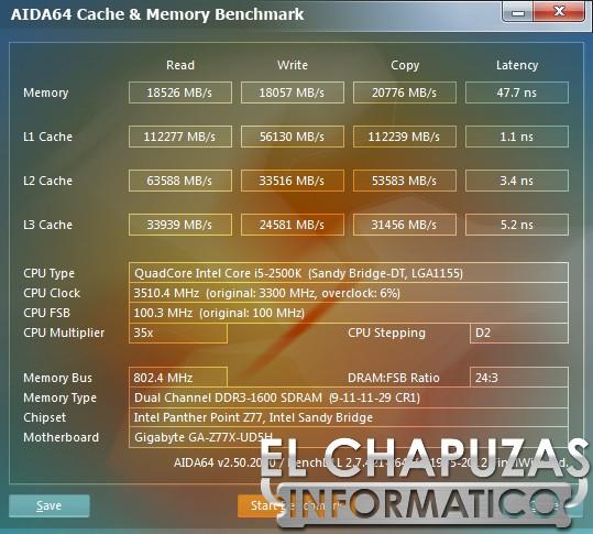 Gigabyte Z77X UD5H Test Aida Review: Gigabyte GA Z77X UD5H