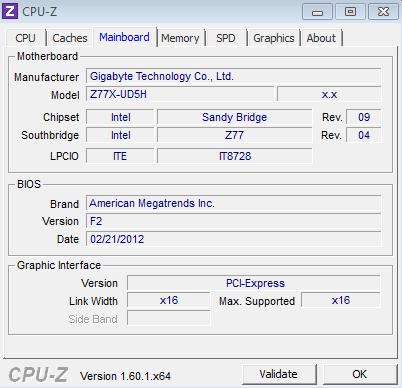 Gigabyte Z77X UD5H Test CPU Z Review: Gigabyte GA Z77X UD5H