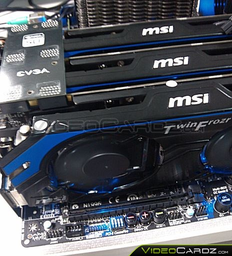 MSI GeForce GTX 660 Ti Hawk 3GB 1 MSI GTX 660 Ti Hawk en 3 Way SLI en imágenes y a prueba