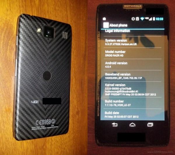 Motorola DROID RAZR HD Desveladas las características del Motorola DROID RAZR HD
