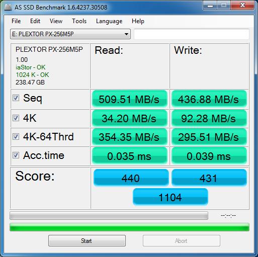 Plextor M5P Plextor PX 256M5P 2 SSD Plextor PX 256M5P a prueba