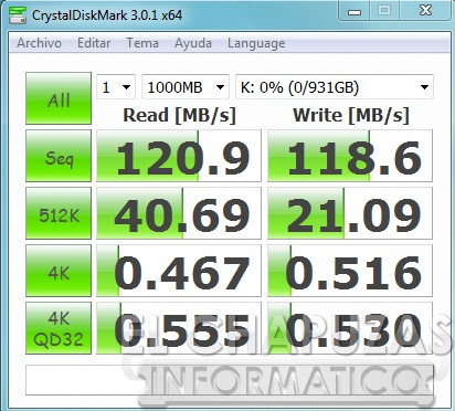Silicon Power Diamond D05 Pruebas 02 Crystal Disk Mark Review: Silicon Power Diamond D05 1TB
