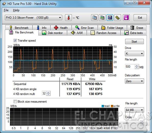 Silicon Power Diamond D05 Pruebas 05 HD Tune Benchmark Review: Silicon Power Diamond D05 1TB