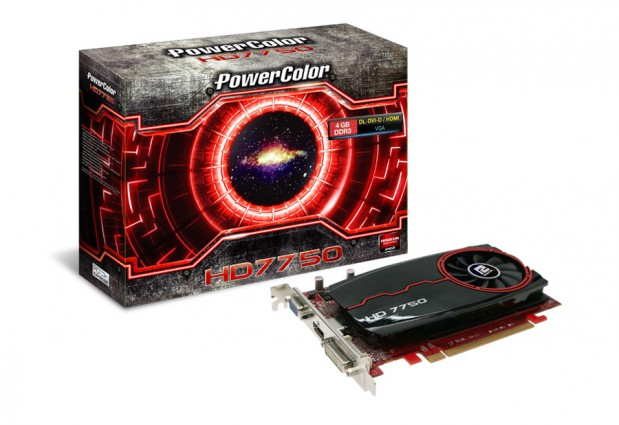 PowerColor Radeon HD 7750 GDDR3 619x425 PowerColor lanza tres Radeon HD 7750 con memoria GDDR3