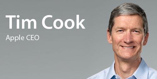Tim Cook objetivo de todas las burlas por su foto tomada con el iPhone 6