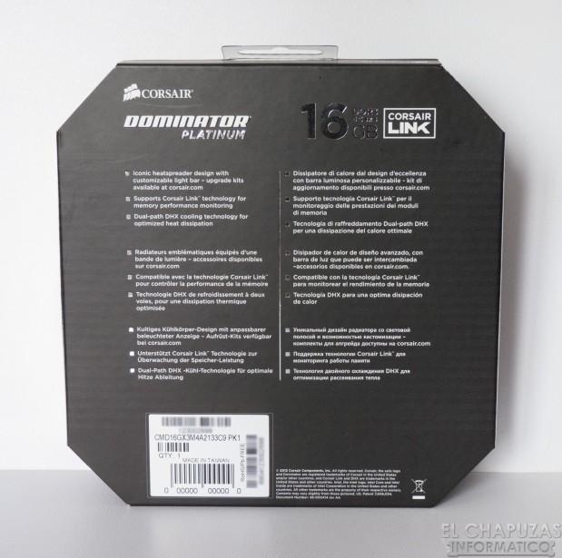 lchapuzasinformatico.com wp content uploads 2012 10 Corsair Dominator Platinum 2133 MHz 16 GB 02 619x615 4