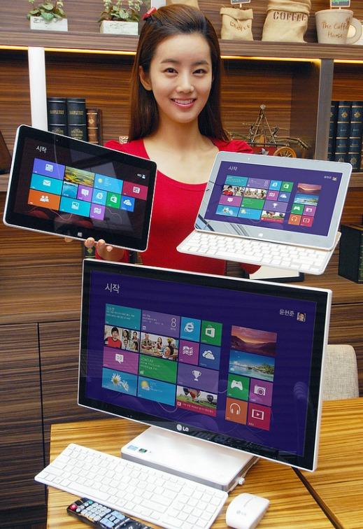 LG anuncia su Tablet H160 y AIO V325 con Windows 8