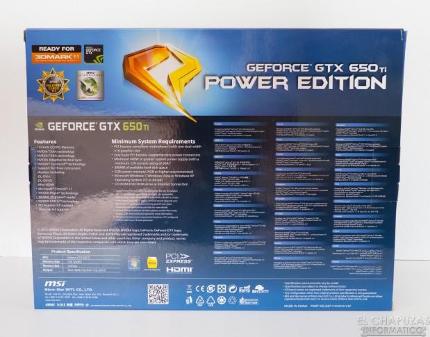 lchapuzasinformatico.com wp content uploads 2012 10 MSI GeForce 650 Ti OC Power Edition 02 619x485 3