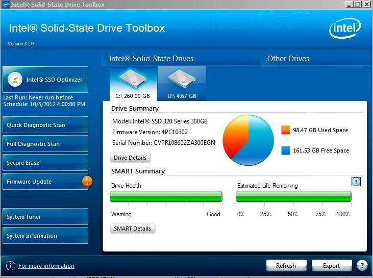 Intel actualiza su SSD Toolbox para Windows 8