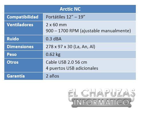lchapuzasinformatico.com wp content uploads 2012 11 Arctic NC Especificaciones 2