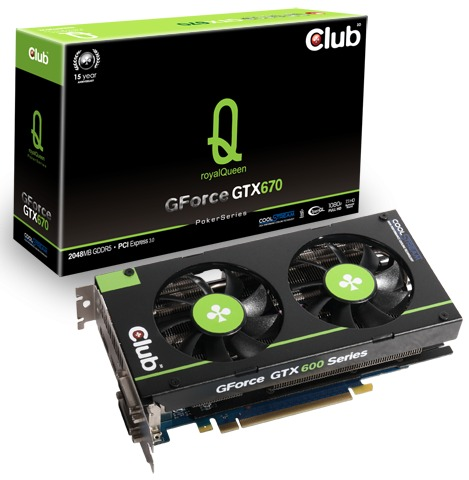 Club 3D lanza las GeForce GTX 670/GTX 660 Ti royalQueen