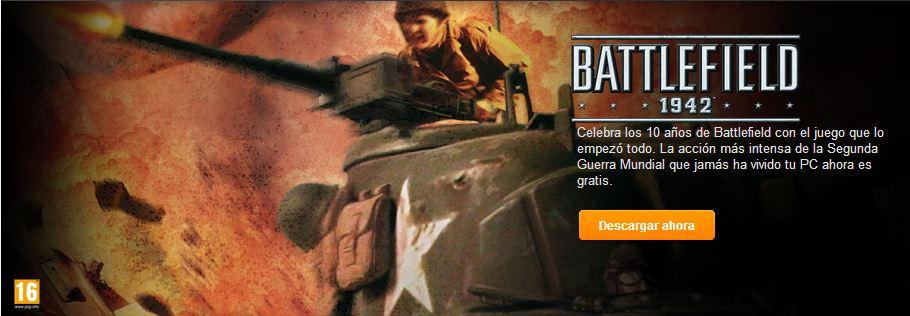 Battlefield 1942 gratis por el 10º Aniversario de la saga