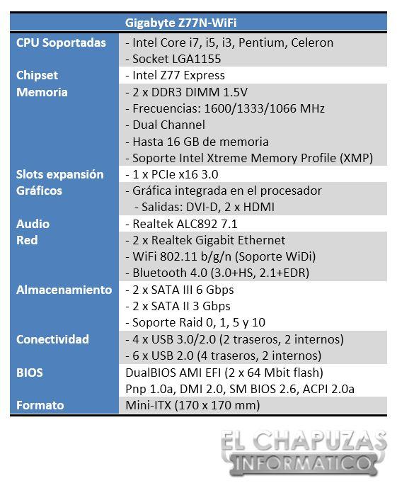 lchapuzasinformatico.com wp content uploads 2012 12 Gigabyte Z77N WiFi Especificaciones 1